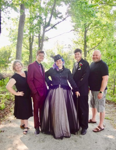 The Clarke Family before the Carolina Capital Homeschool Prom