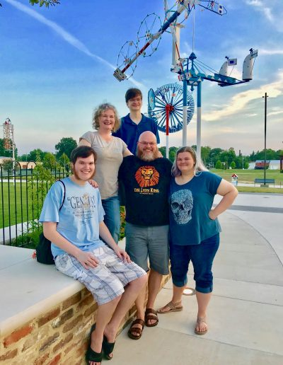 The Clarke Family at the Vollis Simpson Whirligig Park in Wilson, NC