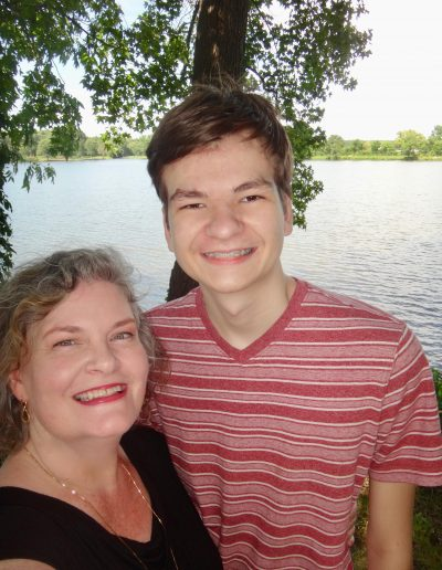 Susan with youngest son Thomas