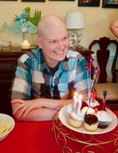 Samuel on his 18th Birthday in the midst of his cancer journey