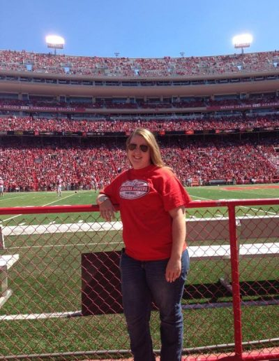 Tiffany is a rabid Nebraska Huskers fan!
