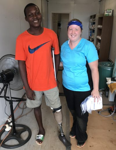 Tiffany with friend and patient Gabriel in the Ivory Coast, Africa